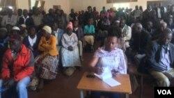War veterans meeting in Gwanda, Matabeleland South province.
