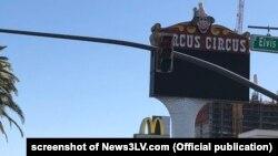 Biển hiệu của khách sạn Circus Circus ở Las Vegas