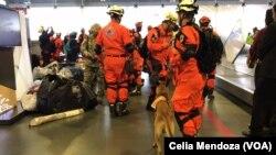 En la foto, el equipo de rescate enviado por Panamá a México tras el terremoto de 7.1 con epicentro en límite entre Puebla y Morelos.