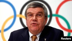 International Olympic Committee President Thomas Bach attends a news conference at the IOC headquarters in Lausanne, Switzerland, Dec. 10, 2013.