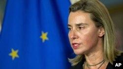 Kepala kebijakan luar negeri Uni Eropa, Federica Mogherini.