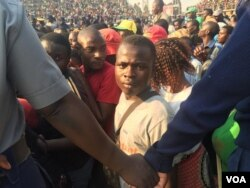 Some of the people at Rufaro Stadium who wanted to view the body of the late Zimbabwean leader.