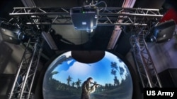 Natick's new virtual reality dome will enable researchers to assess the impact of the environment on soldier cognition, including decision-making, spatial memory or wayfinding (David Kamm, NSRDEC).