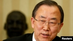 United Nations General Secretary Ban Ki-moon, April 2013.