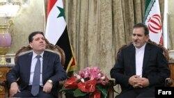 دیدار اسحاق جهانگیری معاون اول رئیس جمهوری ایران و وائل الحقی نخست وزیر سوریه - ۲۵ آذر ۱۳۹۳