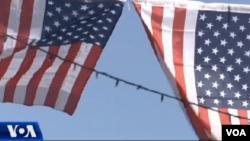 US flag in Kosova