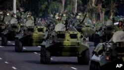 Военный парад на Кубе. Гавана (архивное фото)