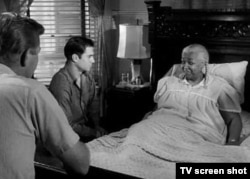 "Martin Milner, George Maharis, and guest star Ethel Waters from the ""Route 66"" episode ""Good Night Sweet Blues"""