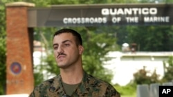 Kopral Marinir Wassef Ali Hassoun di Basis Marinir AS di Quantico, Va., 19 Juli 2004 (Foto: dok).