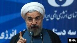 伊朗總統魯哈尼發表電視講話