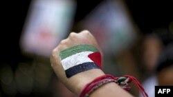 Người Palestine tuần hành tại Ramallah trong khuôn khổ chiến dịch vận động để Palestine được công nhận là một quốc gia tại Liên hiệp quốc