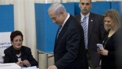 نتانياهو در مرحله مقدماتی انتخابات درون حزبی ليکود