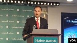 미어 사다트 백악관 국가안보회의(NSC) 남아시아·우주정책·국방정책전략 국장이 13일 워싱턴 허드슨연구소에서 열린 안보 토론회에 참석했다.
