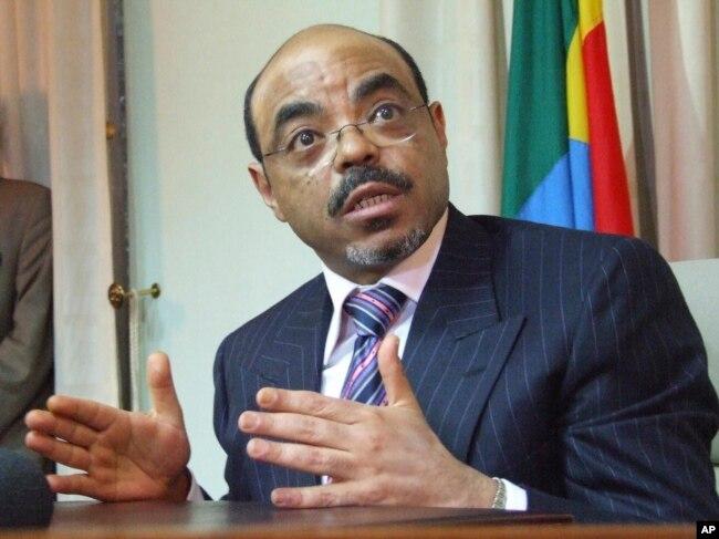 FILE - former Ethiopian Prime Minister Meles Zenawi
