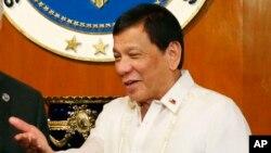 Le président Rodrigo Duterte à Maille, Philippines, 7 août 2017.