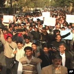 کراچی میں نکالی جانے والی احتجاجی ریلی