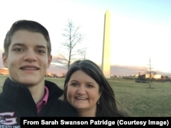 Sarah Swanson Partridge and Cale Swanson.