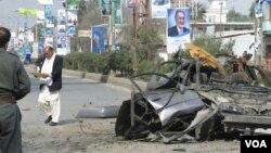 Ledakan di Jalalabad menewaskan gubernur (kepala daerah) propinsi Nangarhar, Afghanistan Timur (8/3).
