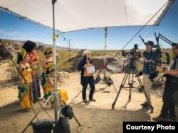 "Sutradara asal Indonesia, Livi Zheng, saat syuting ""Bali: Beats of Paradise"" di Los Angeles (dok: Livi Zheng)"