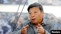 中国摄影师卢广参加山西平遥国际摄影大奖活动。(2018年9月20日)