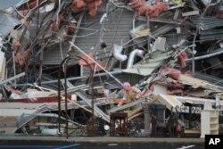 Un immeuble en ruines de Tuscaloosa