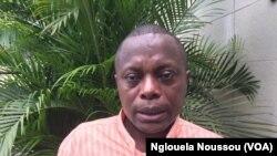 Roch Euloge N'Zobo, membre de la Plateforme pour la gouvernance durable des forêts, à Pointe-Noire, 8 novembre 2017. (VOA/Nglouela Noussou)