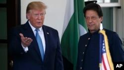 وزیر اعظم عمران خان اور امریکہ کے صدر ڈونلڈ ٹرمپ۔ (فائل فوٹو)