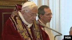 羅馬天主教宗本篤十六世是天主教會600年來首位在世退位的教宗