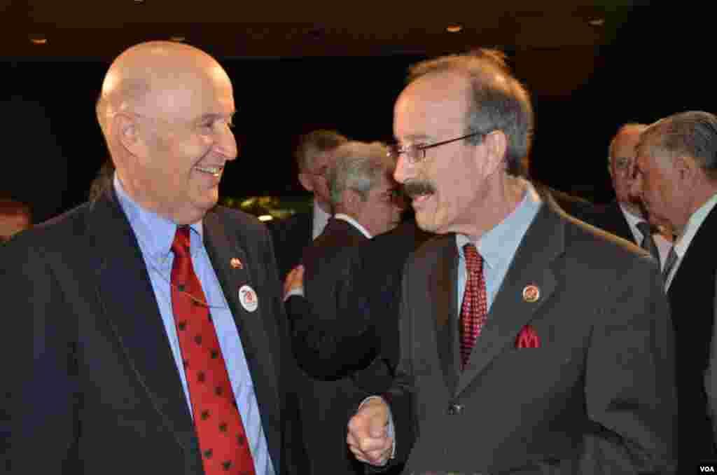 Former U.S. Ambassador in Tirana William Ryerson and New York Congressman Eliot Engel (D)