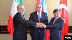 Azərbaycan, Türkiyə və İran xarici işlər nazirləri