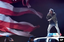 Kendrick Lamar performs at the BET Awards at the Microsoft Theater June 28, 2015, in Los Angeles.