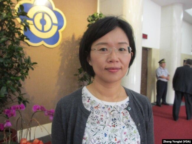 台湾执政党立委苏巧慧(美国之音张永泰拍摄)