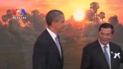 US President Barack Obama Meets Prime Minister Hun Sen in Phnom Penh