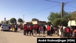 Abdoulaye Adoum Brahim au micro d'André Kodmadjingar pour VOA Afrique