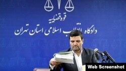 Le juge Abolghasem Salavati du Tribunal révolutionnaire islamique à Téhéran, en Iran.