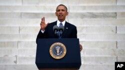 Президент США Барак Обама. Вашингтон. 28 августа 2013 г.