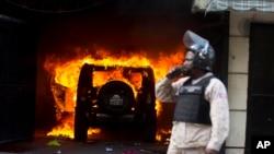 Manifestantes salieron a las calles de Puerto Príncipe, Haití para pedir la renuncia del presidente Jovenel Moise.