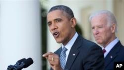 奧巴馬在白宮說已經開始的健保改革將維持下去