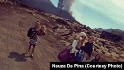 Vulcao do Fogo em erupção, 23 de Novembro, 2014. Foto Neuza De Pina