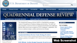 美国国防部网站有关页面截图