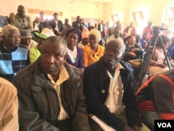 Zimbabwe's war veterans demanding houses, vehicles and increased allowances.