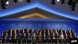 """Совместная фотография участников финансового саммита """"Двадцатки"""""""