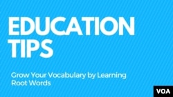 Grow Your Vocabulary by Learning Root Words