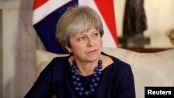 Perdana Menteri Inggris Theresa May di kediaman resmi 10 Downing Street, London, 5 Desember 2017.