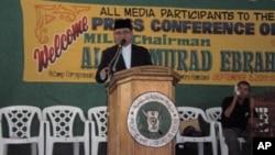 摩洛伊斯蘭解放陣線主席易卜拉欣(中)(資料圖片)