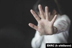 Ilustrasi setop kekerasan terhadap perempuan dan perdagangan manusia. (Foto: EHRC / Shkliarov)