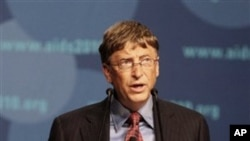 Bill Gates speaks during a session at the International AIDS Conference Austria, 19 Jul 2010 (file photo)