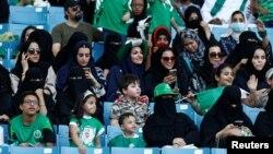 Des Saoudiennes célébrant la fête nationale à Riyad, le 23 septembre 2017.