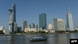 베트남 호치민시의 고층건물들.