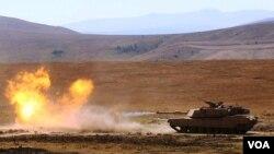 M1A1 Abrams სამხრეთ საქართველოში